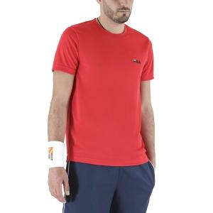 Maglietta Tennis Uomo Fila Logo Small Maglietta  Red FLM142020500