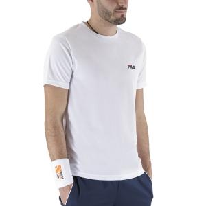 Maglietta Tennis Uomo Fila Logo Small Maglietta  White FLM142020001