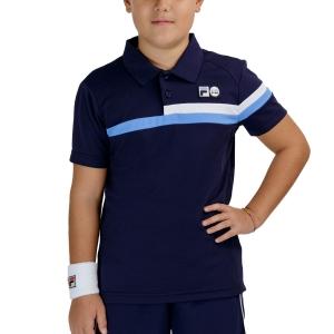 Tennis Polo and Shirts Fila Louie Polo Boys  Peacoat UOM219311K1500