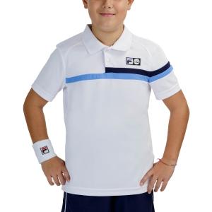 Tennis Polo and Shirts Fila Louie Polo Boys  White UOM219311K001