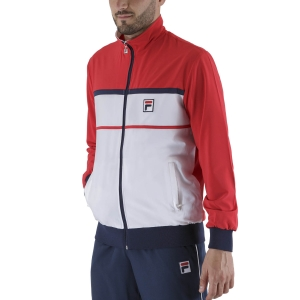 Men's Tennis Jackets Fila Max Jacket  White/Red FBM211001003