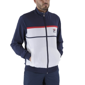 Men's Tennis Jackets Fila Max Jacket  White/Peacoat Blue FBM211001004
