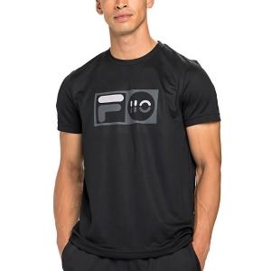 Men's Tennis Shirts Fila Milo TShirt  Black XFM212013900