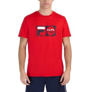 Men's Tennis Shirts Fila Milo TShirt  Red XFM212013500