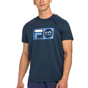 Men's Tennis Shirts Fila Milo TShirt  Peacoat Blue XFM212013100