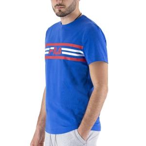 Maglietta Tennis Uomo Fila Nicky Maglietta  Blue Iolite FLU2110111400