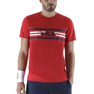 Maglietta Tennis Uomo Fila Niclas Maglietta  Red FBM211049500