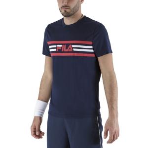 Maglietta Tennis Uomo Fila Niclas Maglietta  Peacoat Blue FBM211049100