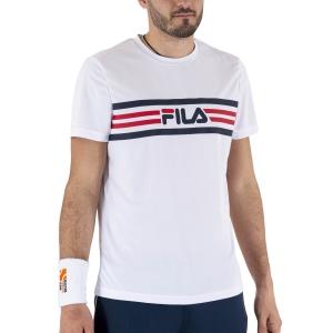 Maglietta Tennis Uomo Fila Niclas Maglietta  White FBM211049001