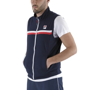 Men's Tennis Jackets Fila Noah Vest  Peacoat Blue FBM211002100