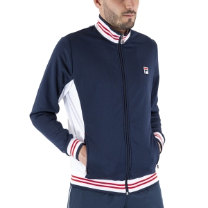Men's Tennis Jackets Fila Ole Jacket  Peacoat Blue/White FRM151001101