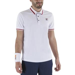 Polo Tennis Uomo Fila Piro Polo  White FBM131110001