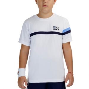 Tennis Polo and Shirts Fila Roman TShirt Boys  White UOM219312K001