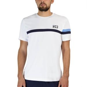 Maglietta Tennis Uomo Fila Roman Maglietta  White UOM219312001