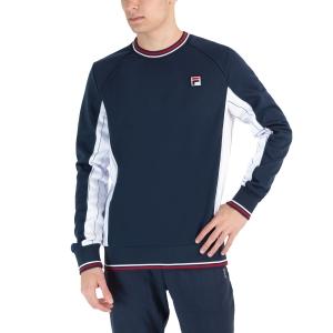 Men's Tennis Shirts and Hoodies Fila Samu Shirt  Peacoat Blue XFM212031100