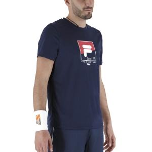Maglietta Tennis Uomo Fila Sandro Maglietta  Peacoat Blue FBM211048100
