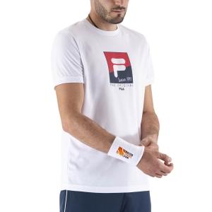 Maglietta Tennis Uomo Fila Sandro Maglietta  White FBM211048001