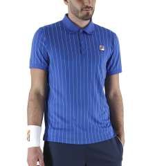 Fila Stripes Polo - Blue Iolite/White