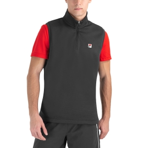 Men's Tennis Shirts and Hoodies Fila Toby Vest  Black FBM212020900