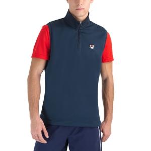 Men's Tennis Shirts and Hoodies Fila Toby Vest  Peacoat Blue FBM212020100