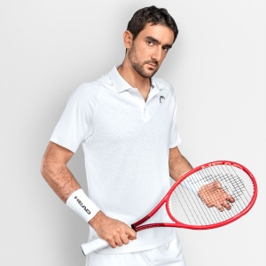 Polo Tenis Hombre Head Performance II Polo  White 811341WH