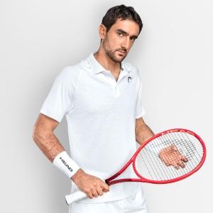 Men's Tennis Polo Head Performance II Polo  White 811341WH