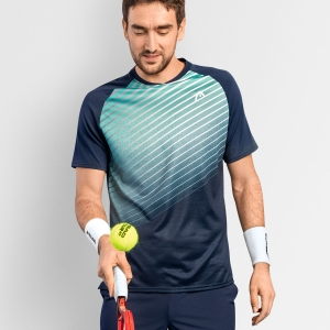 Camisetas de Tenis Hombre Head Performance Camiseta  Print Performance/Turquoise 811361XPTQ