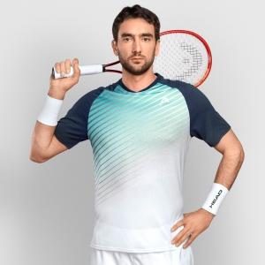 Men's Tennis Shirts Head Performance TShirt  Turquoise/Print Performance 811361TQXP