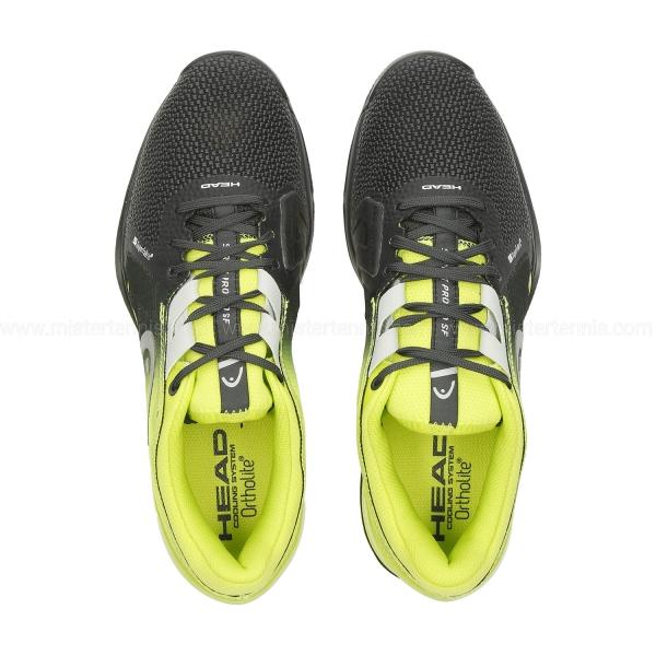 Head Sprint Pro 3.0 SF Clay - Black/Lime