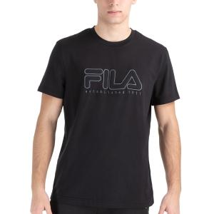Men's Tennis Shirts Fila Felix TShirt  Black FLU212010900
