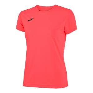 Top and Shirts Girl Joma Combi TShirt Girl  Coral Fluor 900248.040