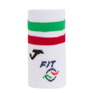 Tennis Wristbands Joma FIT Big Wristband  White/Red/Green FIT400300P13