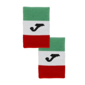 Tennis Wristbands Joma Italy Flag Big Wristbands  Green/White/Red FIT400300P11