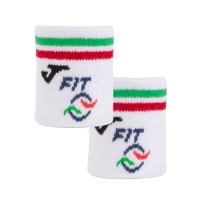 Tennis Wristbands Joma Italy Small Wristbands  White/Red/Green FIT400245P07