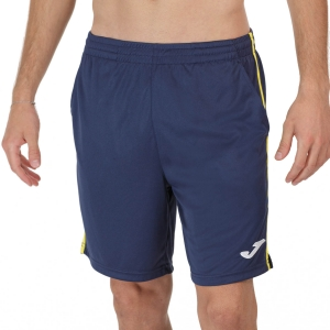 Men's Tennis Shorts Joma Drive II 7in Shorts  Navy/Yellow 102252.339