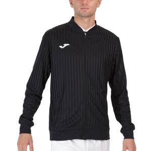 Men's Tennis Jackets Joma Open III Full Zip Jacket  Black 102249.100