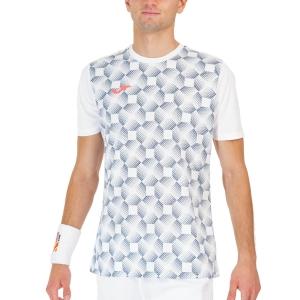 Maglietta Tennis Uomo Joma Open III Print Maglietta  White 102251.200