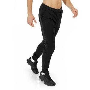 Men's Tennis Pants and Tights Joma Panteon II Logo Pants  Black 101675.100