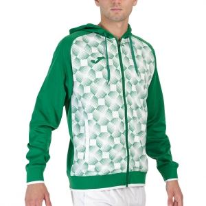 Maglie e Felpe Tennis Uomo Joma Supernova III Felpa  Green/White 102262.452