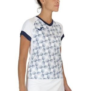 Camisetas y Polos de Tenis Mujer Joma Supernova III Camiseta  White/Dark Navy 901431.203