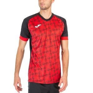 Camisetas de Tenis Hombre Joma Supernova III Camiseta  Black/Red 102263.106