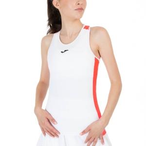 Women`s Tennis Tanks Joma Torneo Tank  White/Dark Orange Fluor 901297.219