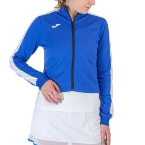 Women's Tennis Shirts and Hoodies Joma Torneo Full Zip Sweatshirt  Royal/White 901223.726