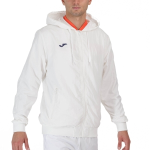 Men's Tennis Jackets Joma Torneo Full Zip Jacket  White/Navy 102239.203