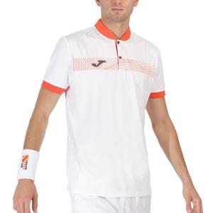 Polo Tennis Uomo Joma Torneo Polo  White/Red 101807.206