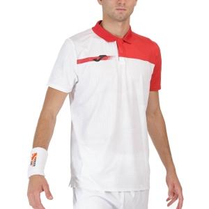 Polo Tennis Uomo Joma Torneo Print Polo  White/Red 101810.206