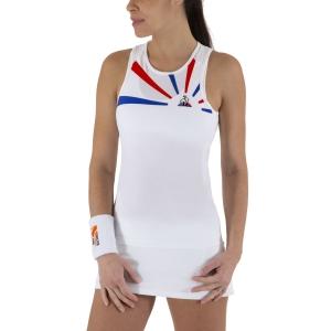 Top de Tenis Mujer Le Coq Sportif Performance Pro Top  Cobalt/Pur Rouge 2011033
