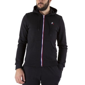 Men's Tennis Shirts and Hoodies Le Coq Sportif Logo Hoodie  Black 1922094