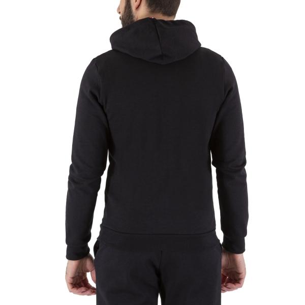 Le Coq Sportif Logo Hoodie - Black