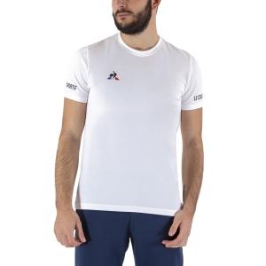 Men's Tennis Shirts Le Coq Sportif Logo TShirt  New Optical White 2020720